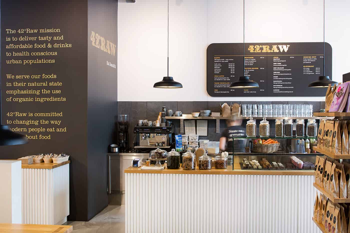 RITAarch, 42RAW, 42RAW Hellerup, Indretning, Spaceplanning, Cafeindretning, Resturantindretning, Cafe, Skranke, Cafedisk, Specialinventar, Specialdesign