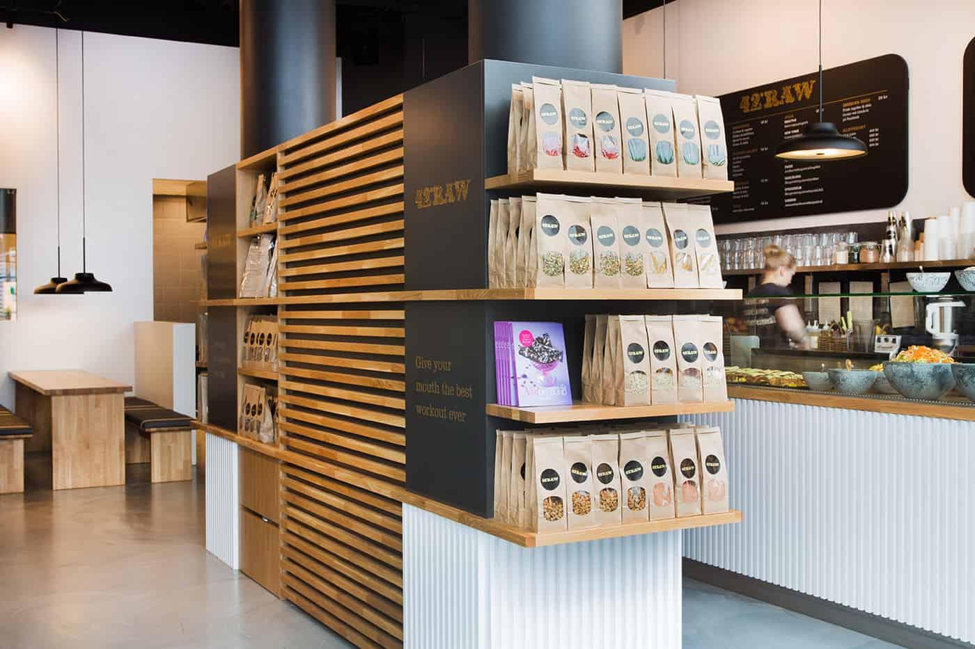 RITAarch, 42RAW, 42RAW Hellerup, indretning, spaceplanning, Cafeindretning, resturantindretning, cafe, display, udstilling