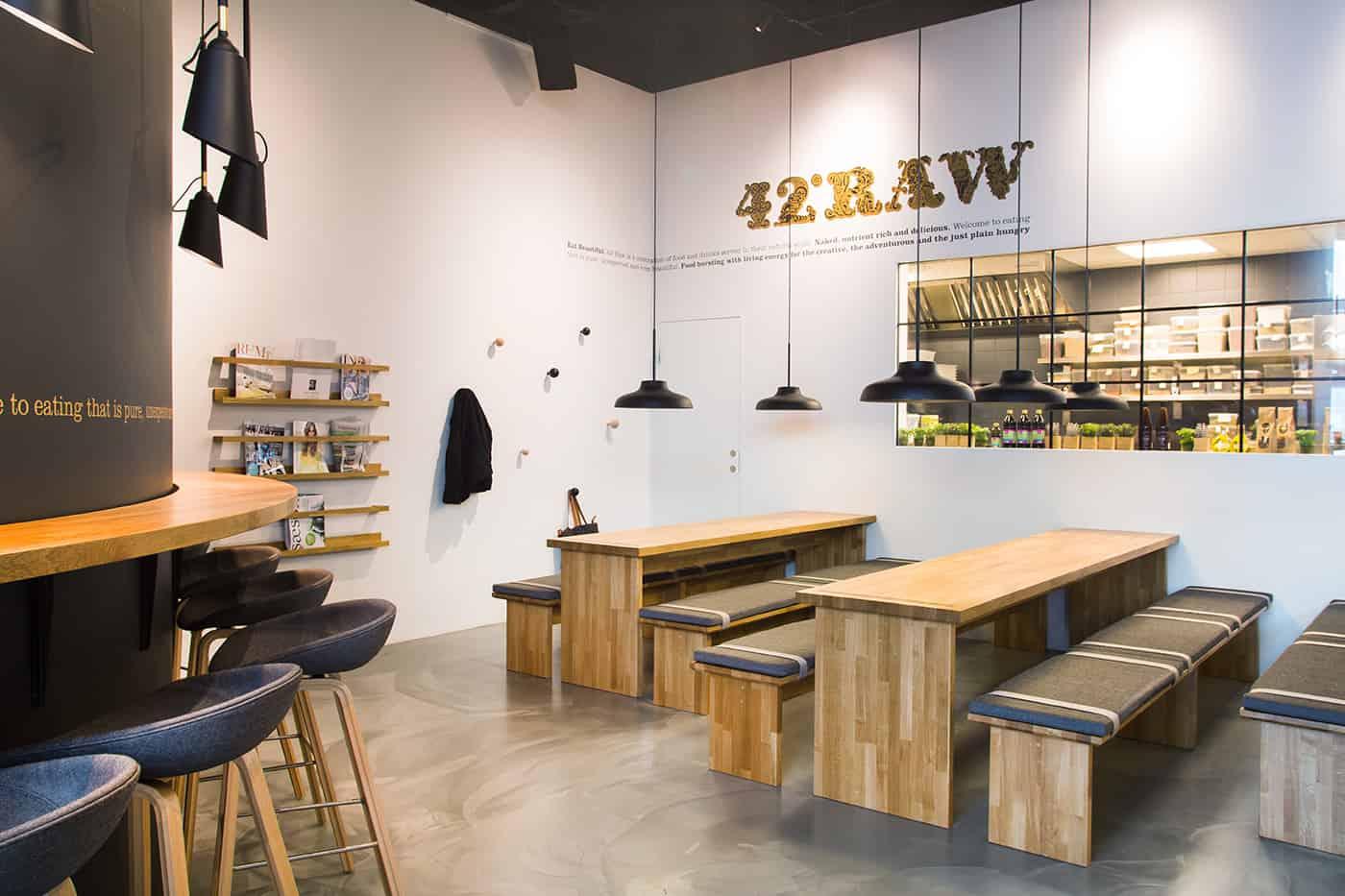 RITAarch, 42RAW, 42RAW Hellerup, indretning, spaceplanning, Cafeindretning, resturantindretning, cafe, siddeområde