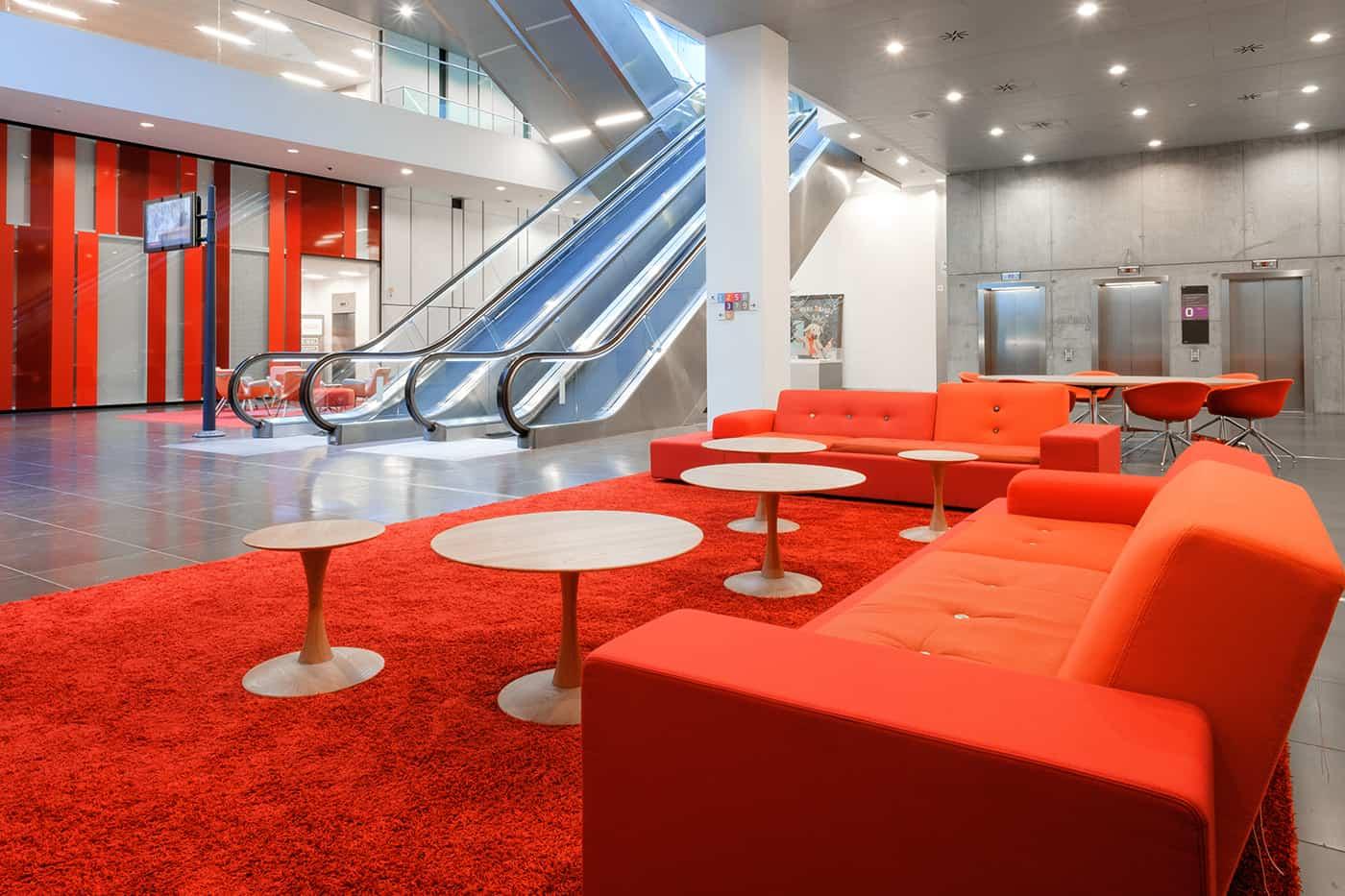 RITAarch DR Danmarks radio, indretning, lounge, DR gaden, indgang, ankomst område
