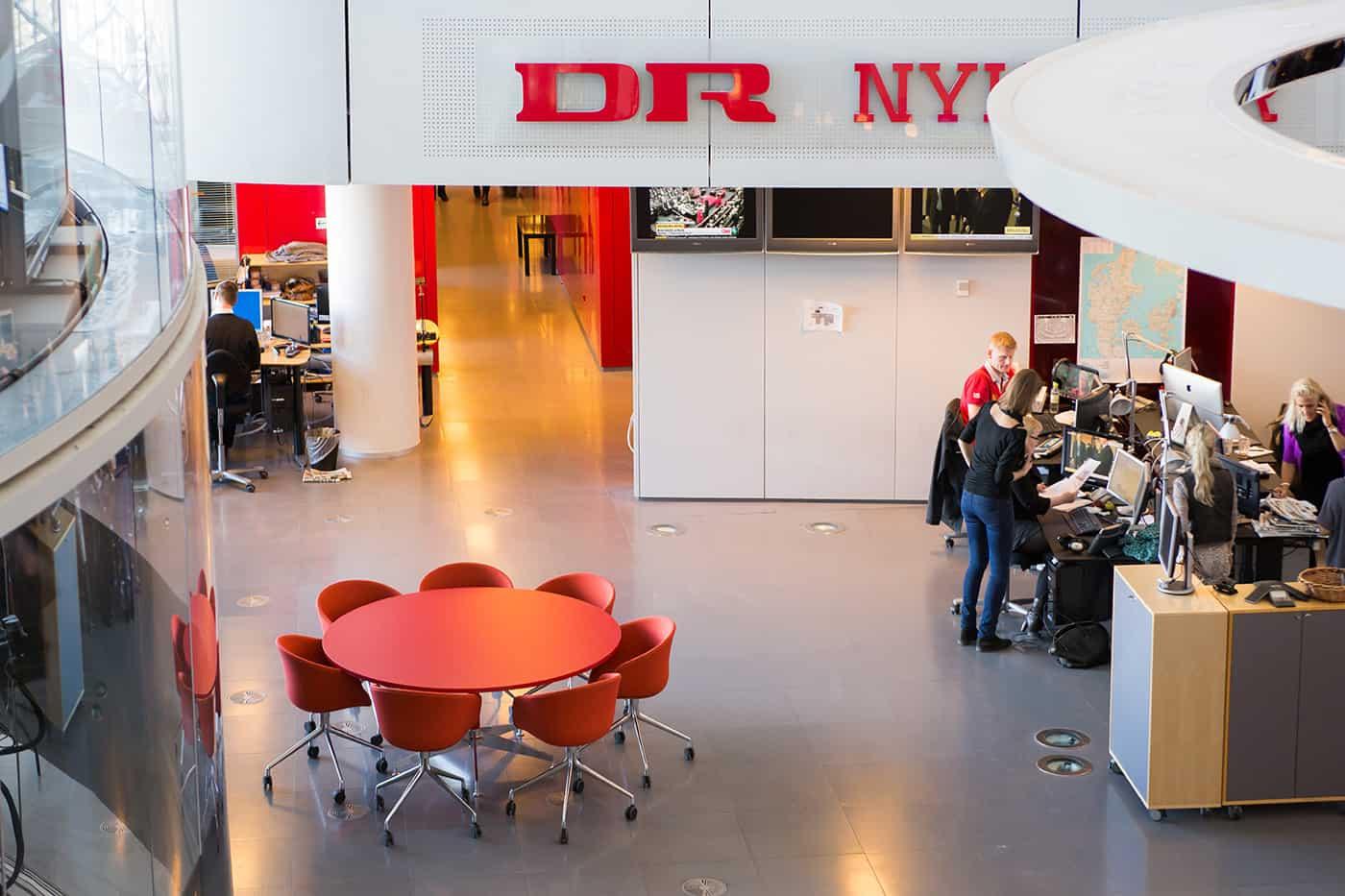 RITAarch DR Danmarks radio, indretning, lounge, DR gaden, Dr news, arbejdsområde, kontorindretning, dropin