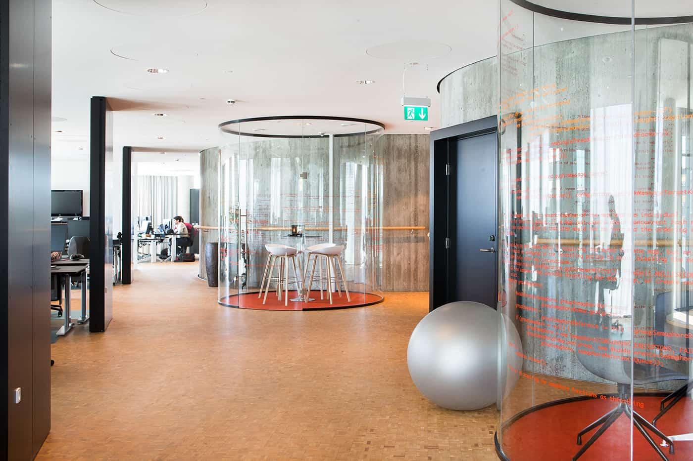 RITAarch, Exerp, indretning, København, Kontorindretning, åbentkontor, møderum, grafik, wayfinding