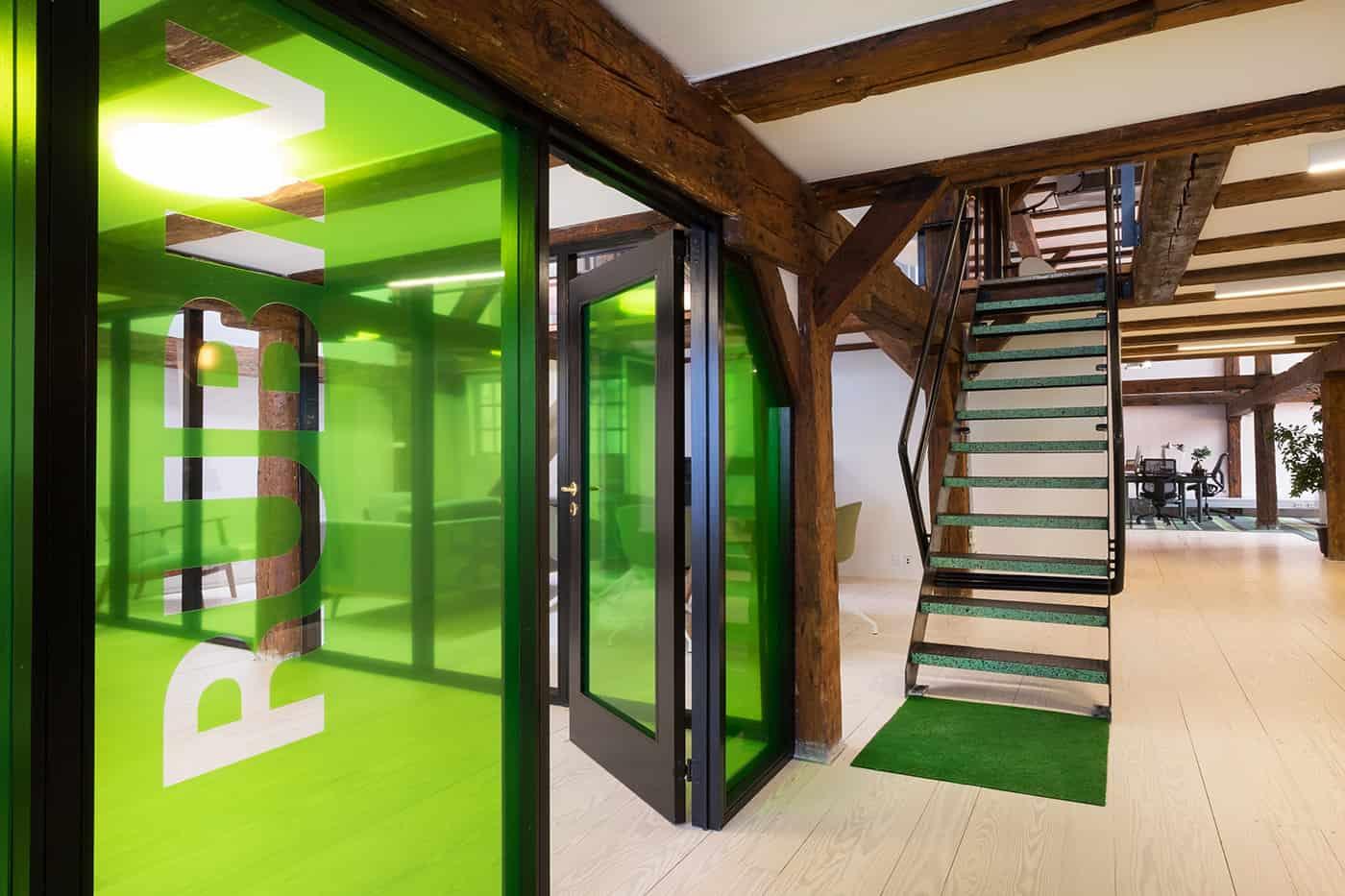 RITAarch, Greener Pastures, indretning, mødelokaler, grafik, glasfolie