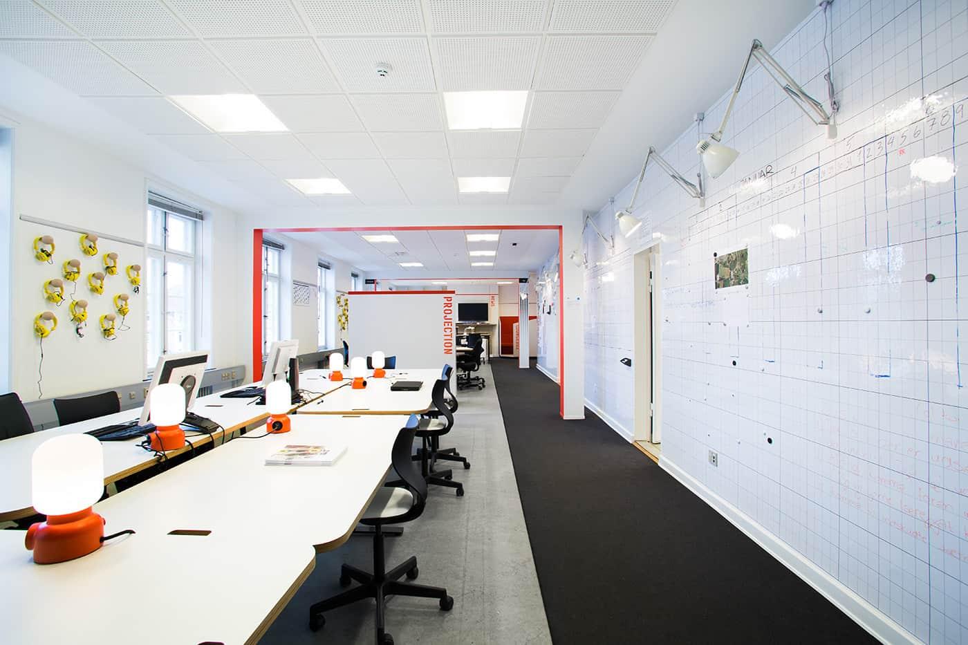 RITAarch, indretning, spaceplanning, kontorindretning, åbentkontor, specialinventar, specialdesign, Nyt hospital Nordsjælland projekthus