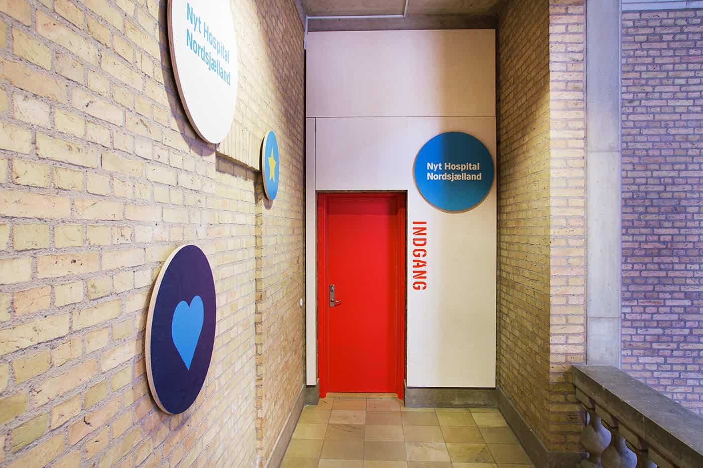 RITAarch, indretning, spaceplanning, grafik, indgang, visuelidentitet, Nyt hospital Nordsjælland projekthus