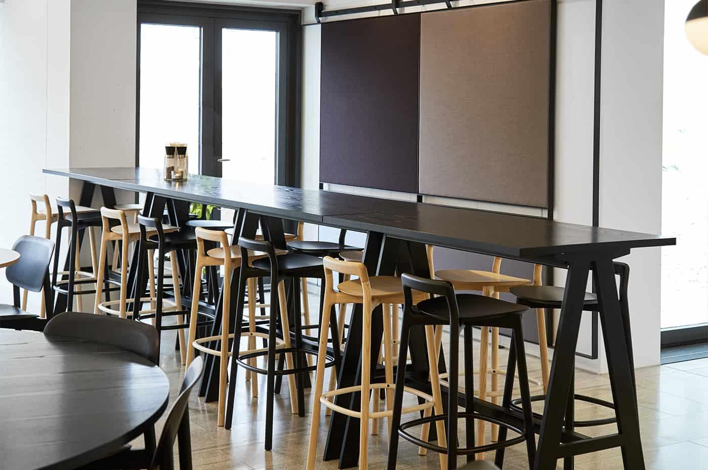 RITAarch Rosendahl Design Group, indretning, cafeindretning, cafe, højbord