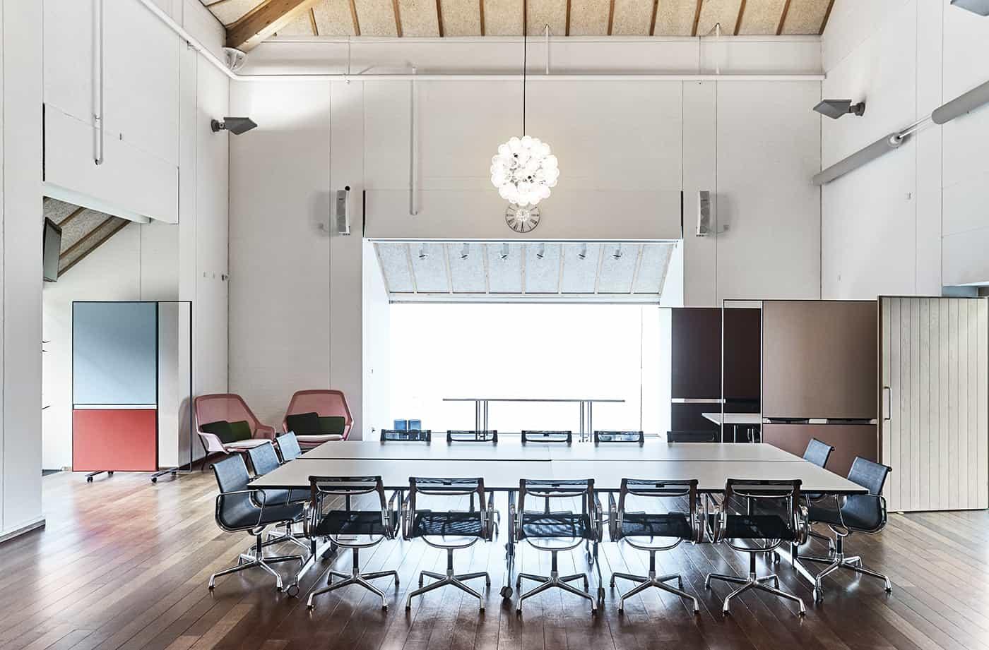 RITAarch Rosendahl Design Group, indretning, specialinventar, fleksible rammer, afskærmning, detalje
