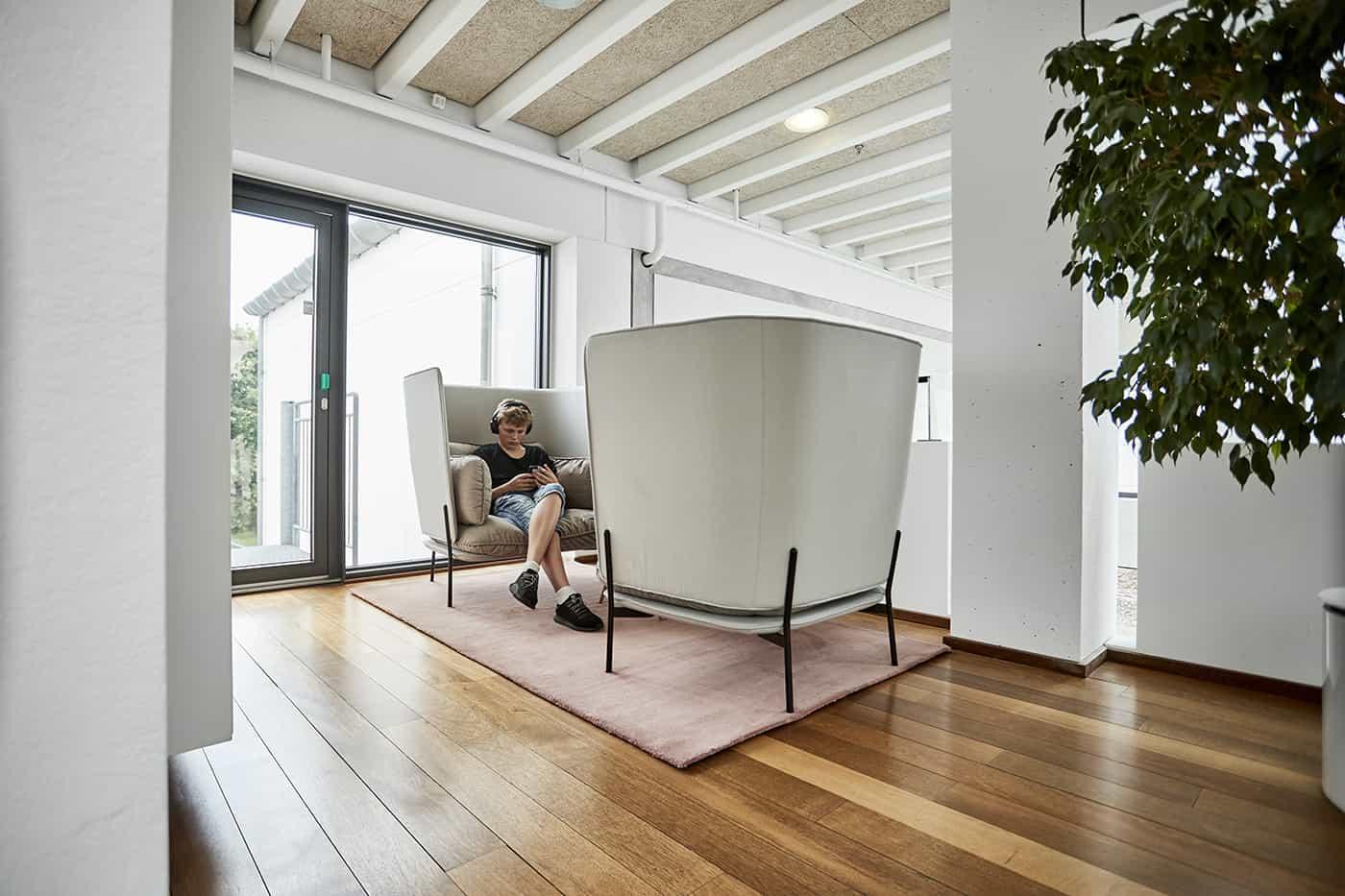 RITAarch Rosendahl Design Group, indretning, fleksibelt møde, åben kontor, lounge, telefonmøde